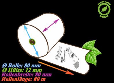 50 Thermorollen 80x80x12, 80 m ohne Phenol (BPA,BPC,BPS) - Fußballmotiv