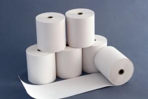 Papierrollen für Regestrierkassen