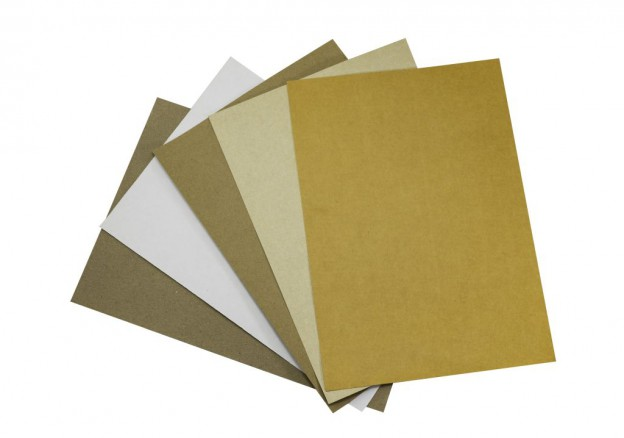 Verschiedene Sorten ecyceltes Papier