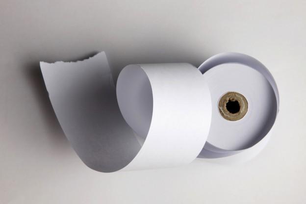 Bonpapierrolle Weiß