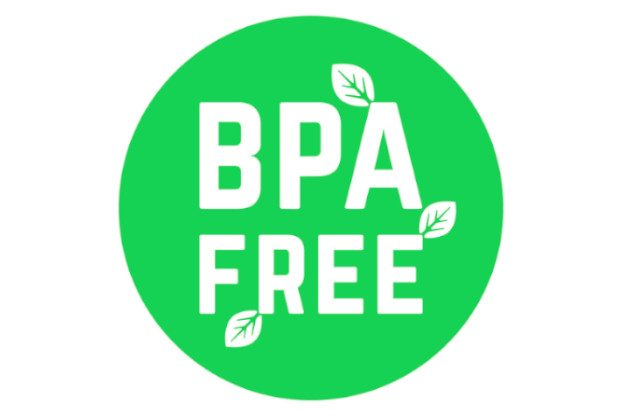 Rundes Logo mit BPA FREE Aufschrift